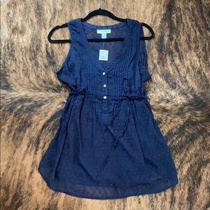 NWT Motherhood Maternity Navy Blue Blouse